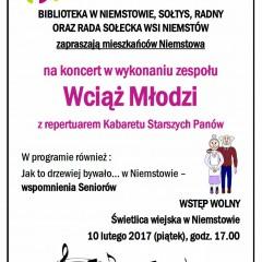 """ZAPROSZENIE NA KONCERT """"Wciąż Młodzi"""""""