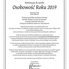 Osobowość Roku ! Kolejna Niemstowianka w plebiscycie Gazety Wrocławskiej !